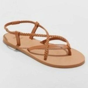 Shade & Shore Cami Braided Thong Sandals Size 10